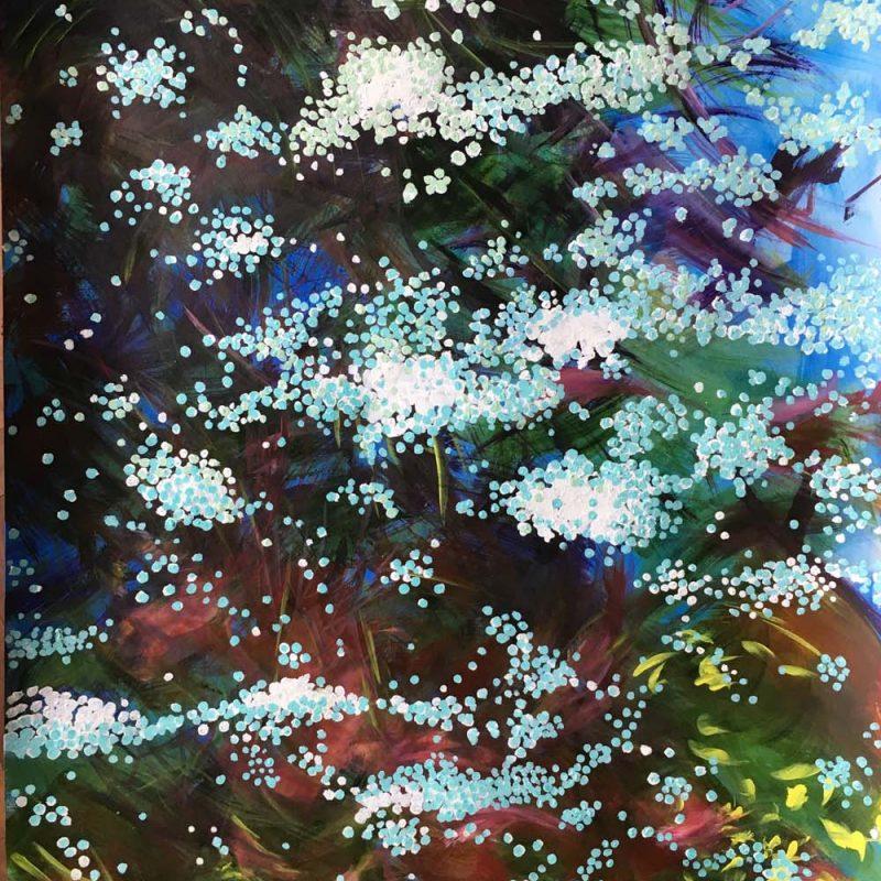 100x70 cm, acryl on paper, 2018,