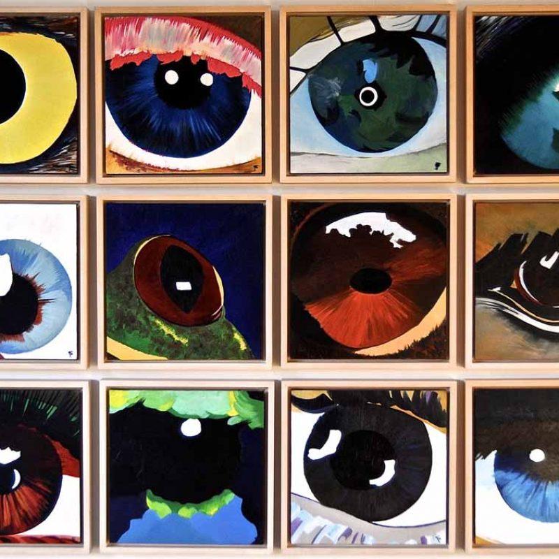 12 ogen , eigendom van de kunstenaar