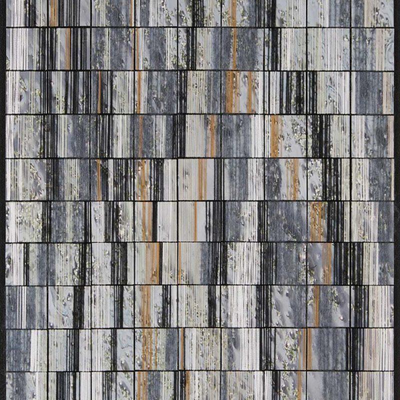 2018, 50x40cm, garen en foto op canvas, zwart houten lijst